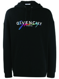 GIVENCHY - Logo print cotton hoodie