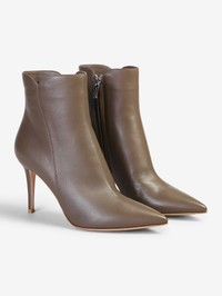 GIANVITO ROSSI - Leather ankle boots