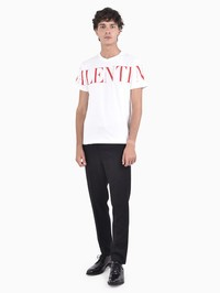 VALENTINO - Logo print cotton T-shirt