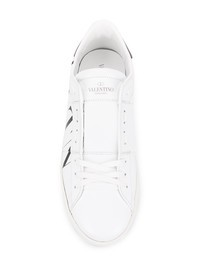 VALENTINO GARAVANI - Logo print leather sneakers