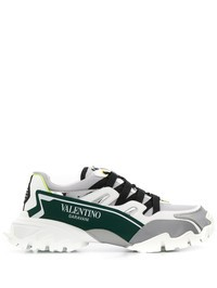 VALENTINO GARAVANI - Climbers mesh and leather sneakers
