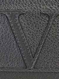 VALENTINO GARAVANI - Logo patch leather card holder