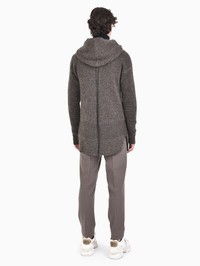 RICK OWENS - Mohair and virgin wool blend cardigan