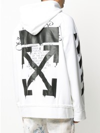 OFF-WHITE - Printed cotton hoodie
