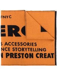 HERON PRESTON - Logo intarsia virgin wool scarf