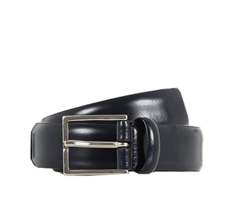 DELL'OGLIO - Blue brushed leather belt
