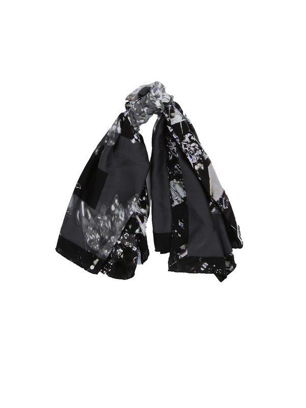 GIVENCHY - Black silk abstract pattern bandana