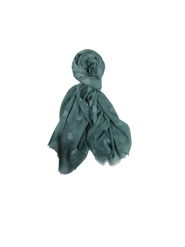 RICHIAMI - Fresia green modal and silk scarf