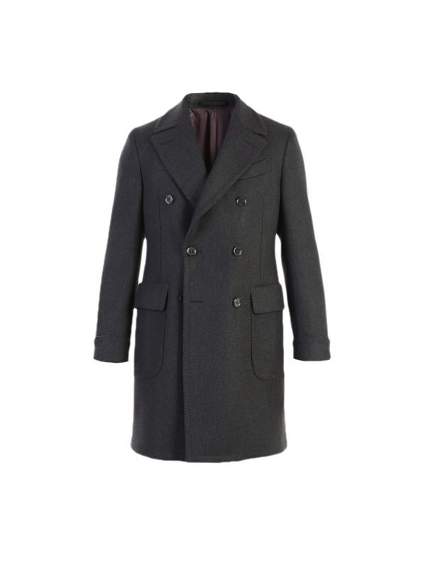 DELL'OGLIO - Military green wool coat