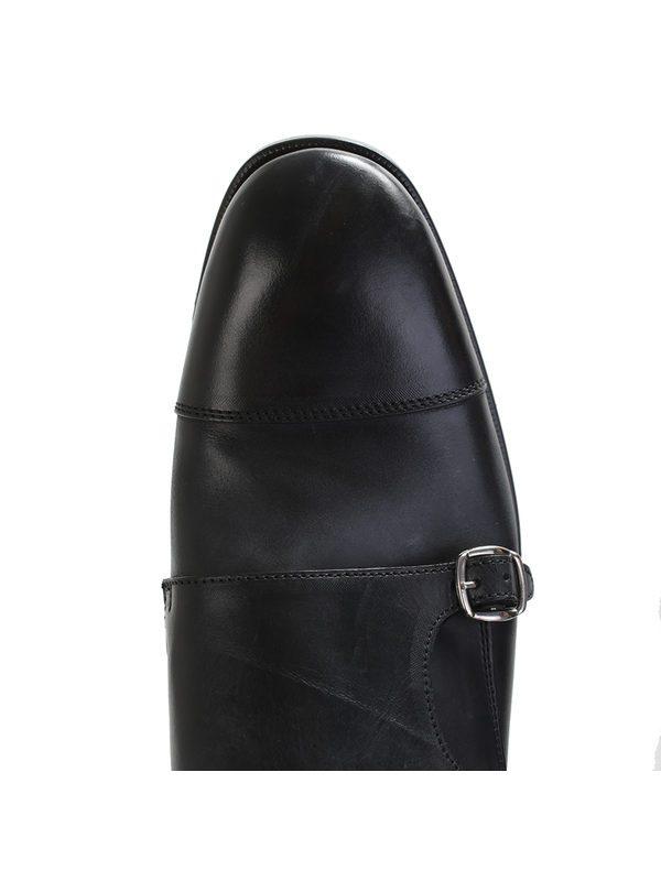 DELL'OGLIO - Black leather monkstrap