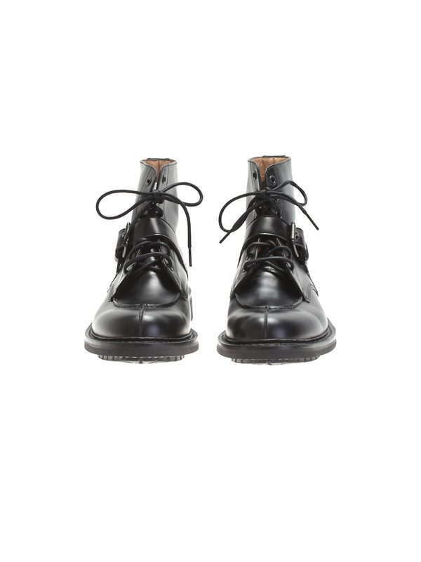 CHURCH'S - Black leather ankle boots