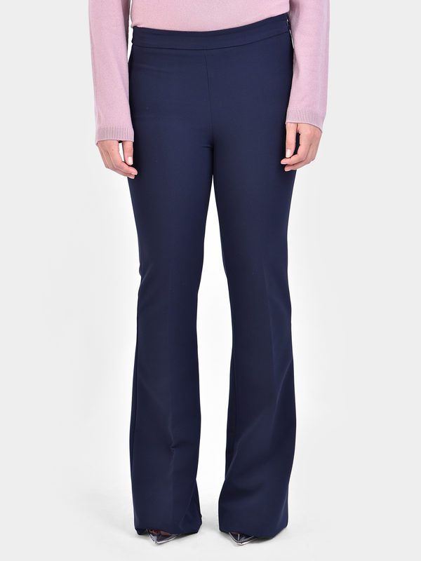 BLANCA - Flared stretch trousers