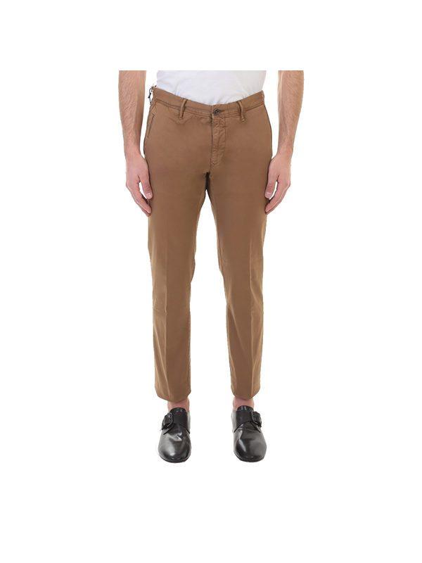 INCOTEX - Tobacco cotton trousers