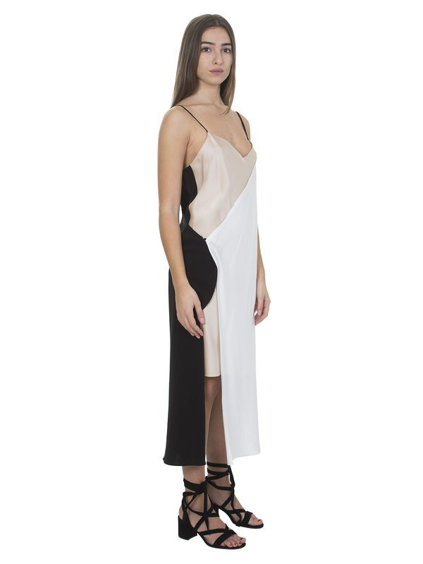 DKNY - Nude, white and black double dress
