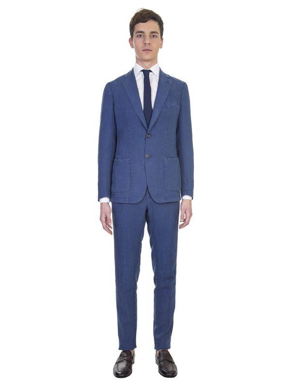 DELL'OGLIO - Blue linen suit