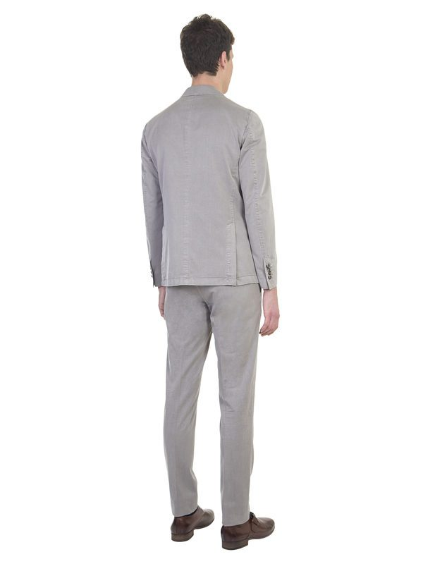 DELL'OGLIO - Taupe cotton and silk suit