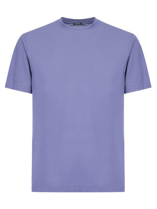 ZANONE - Turquoise Ice cotton basic T-shirt