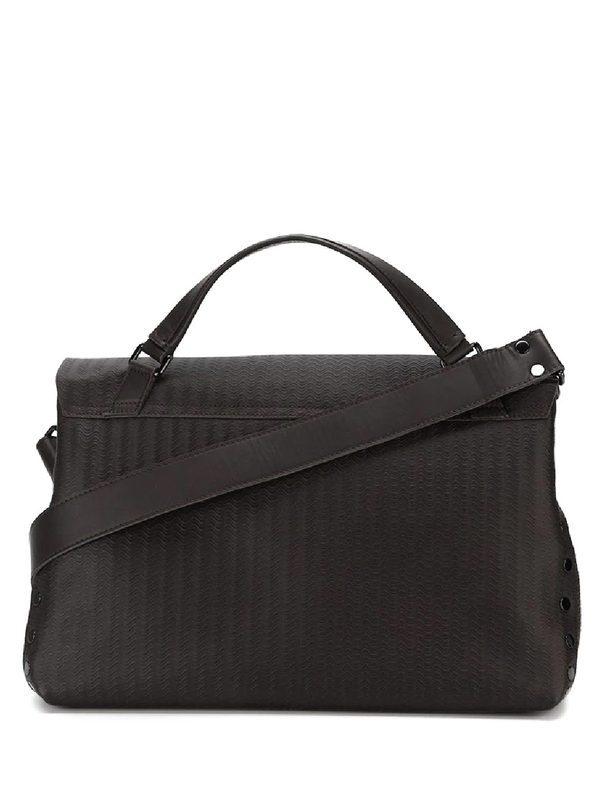 ZANELLATO - Brown leather Postina Blandine large bag