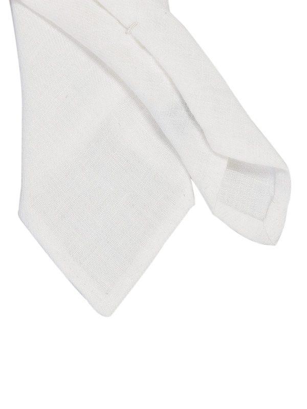 DELL'OGLIO - White linen tie