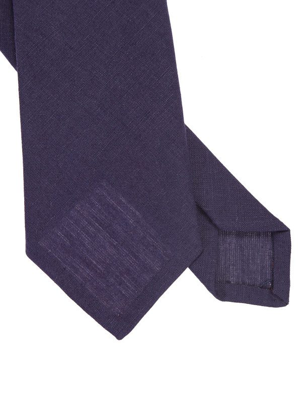 DELL'OGLIO - Purple linen tie