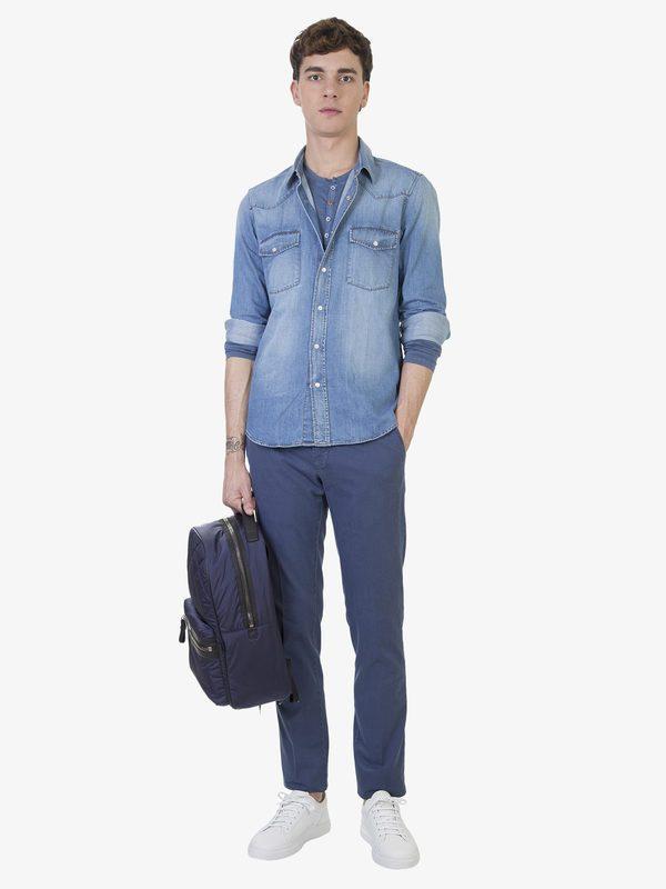 DELL'OGLIO - Textured cotton trousers