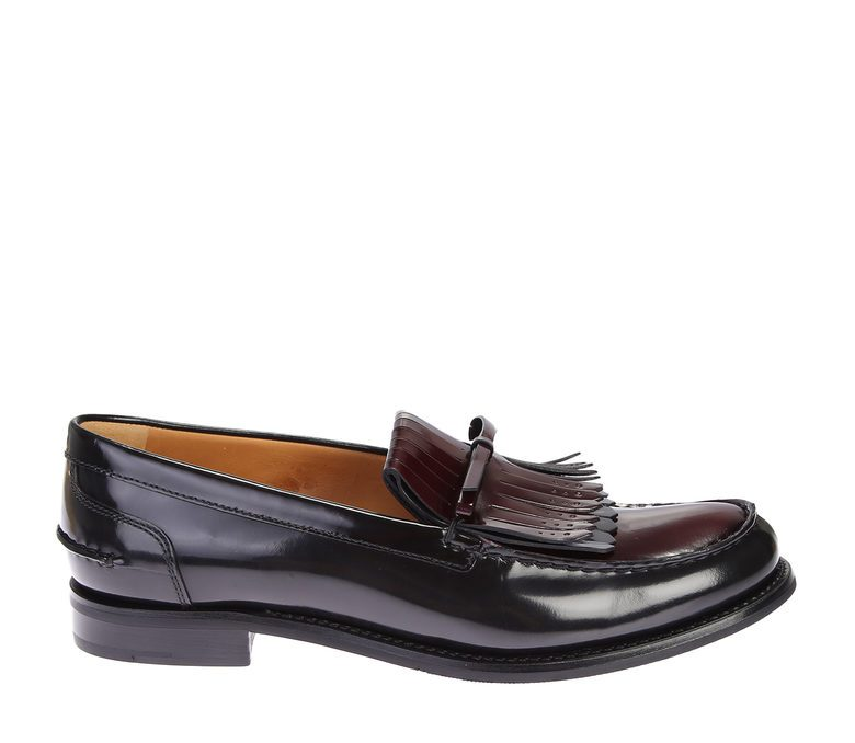 CHURCH'S - Contrasting leather moccasins