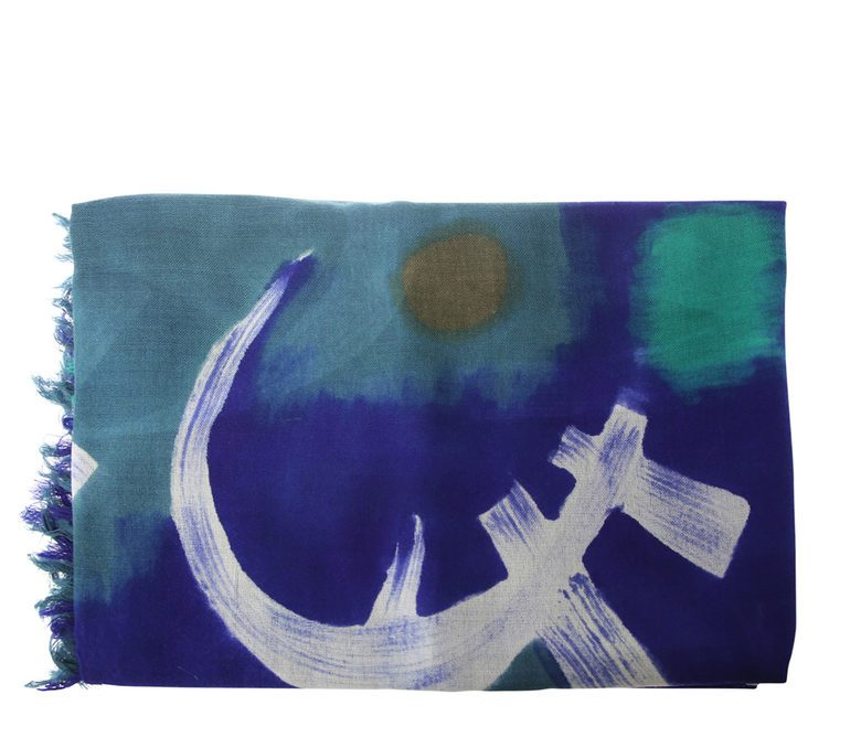 DIANORA SALVIATI - Printed wool and cashmere scarf