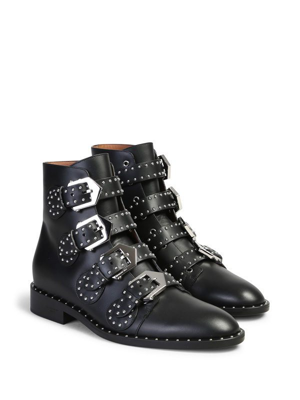 GIVENCHY - Studded leather ankle boots