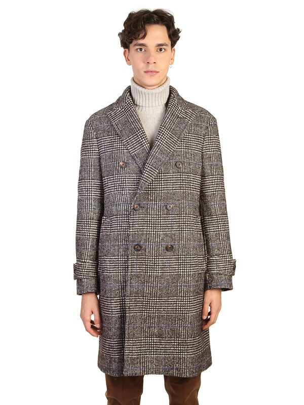 DELL'OGLIO - Blend wool and cotton coat