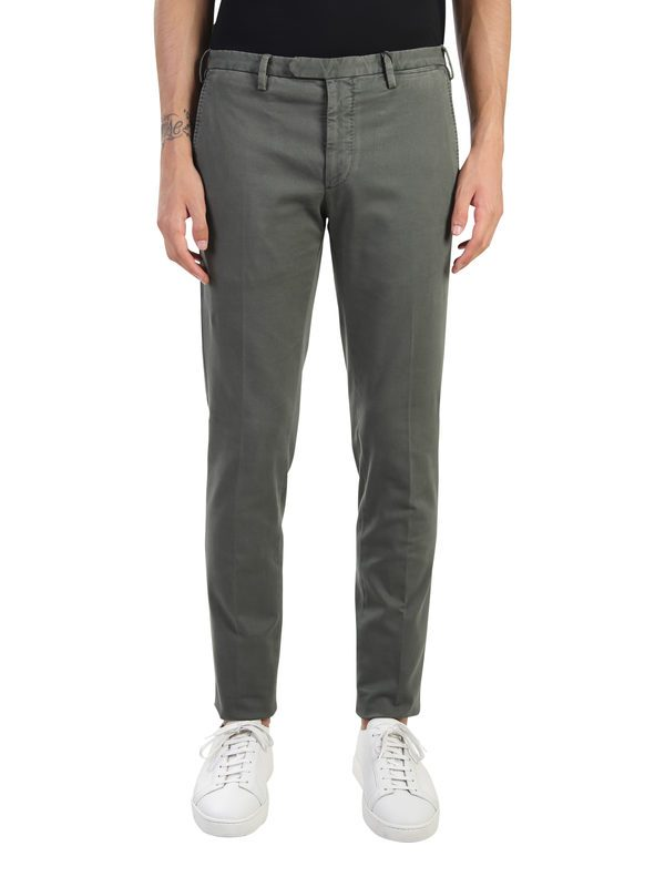 DELL'OGLIO - Stretch cotton trousers