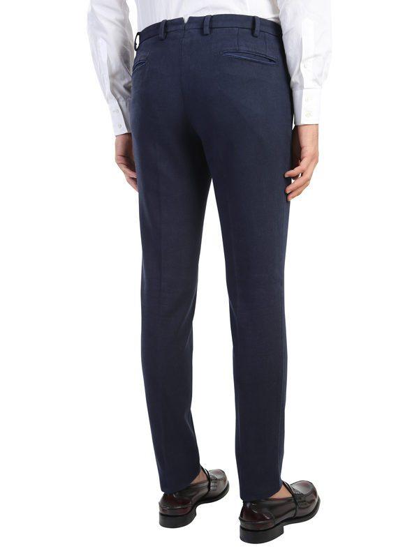 DELL'OGLIO - Stretch cotton trousers