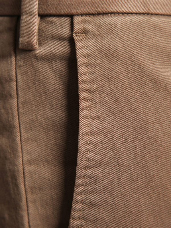 DELL'OGLIO - Stretch blend cotton trousers