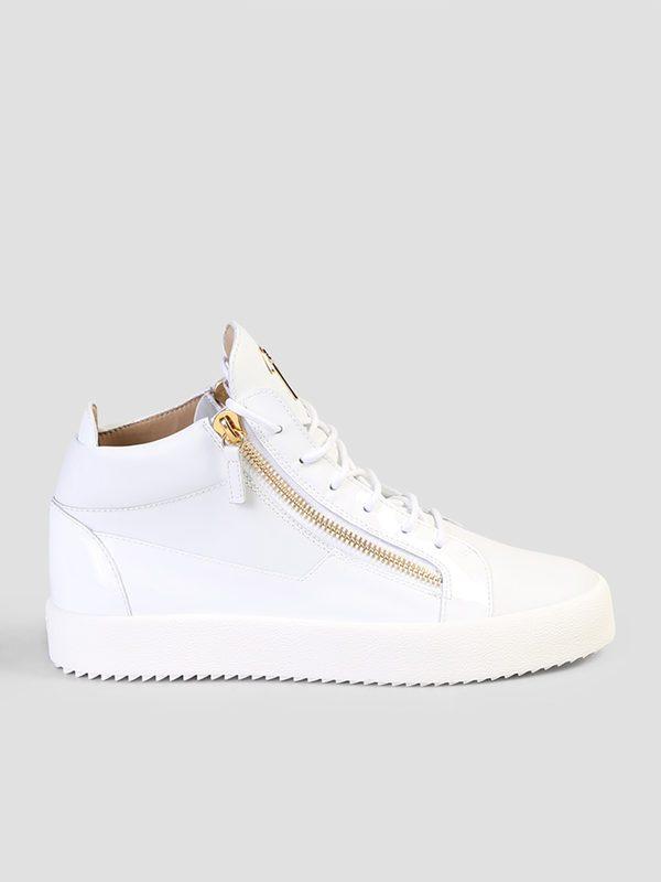 GIUSEPPE ZANOTTI - Leather high top sneakers