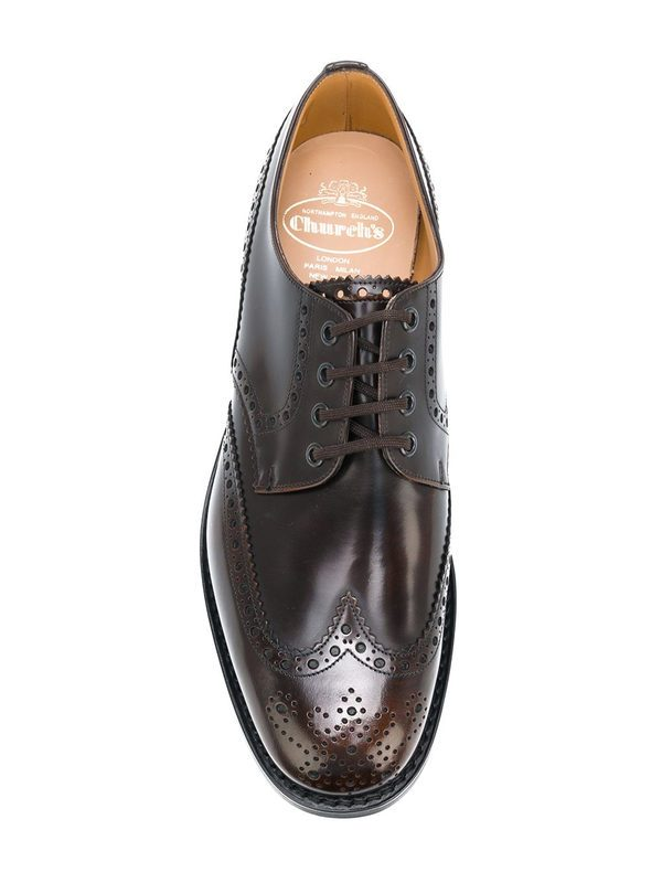 CHURCH'S - Ramsden leather oxford shoes