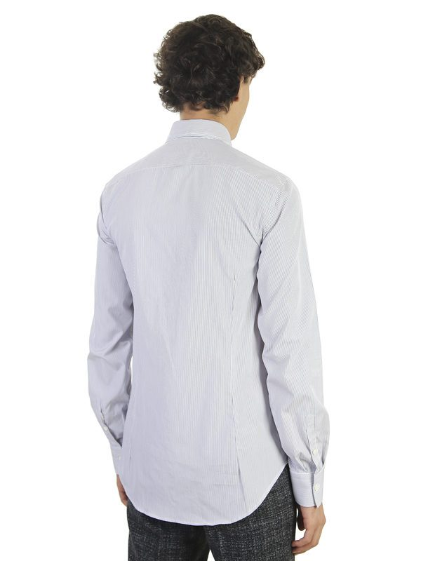 DELL'OGLIO - Striped cotton slim shirt