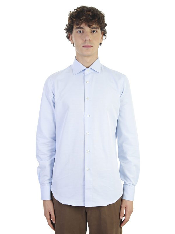 DELL'OGLIO - Cotton slim shirt