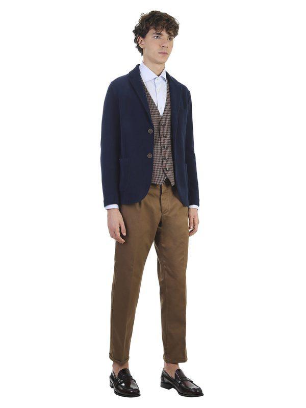 DELL'OGLIO - Micropatterned cotton slim shirt