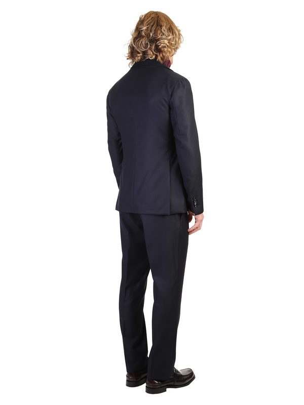 TAGLIATORE - Micro-boucle virgin wool suit