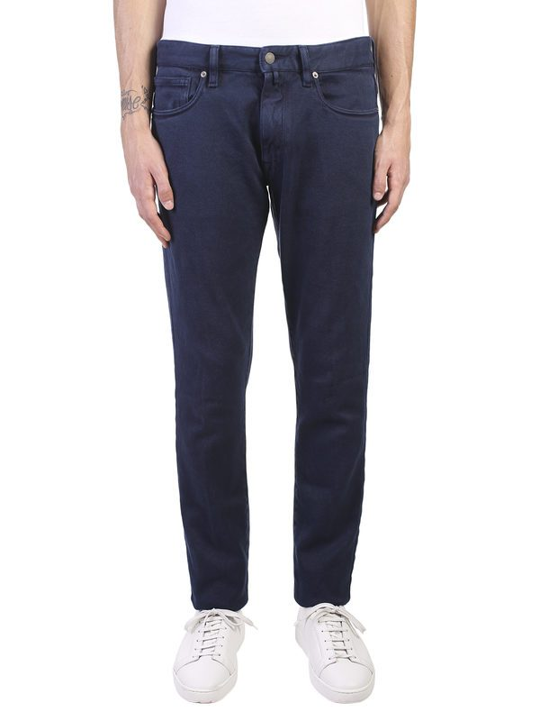 INCOTEX - Stretch cotton and wool blend trousers