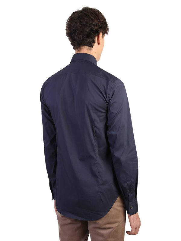 DELL'OGLIO - Stretch cotton shirt