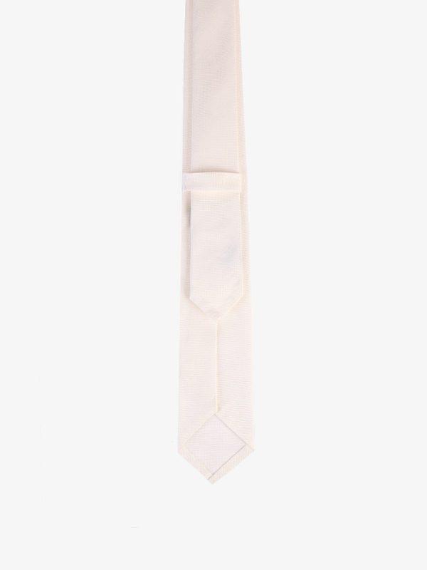 DELL'OGLIO - Silk and linen tie