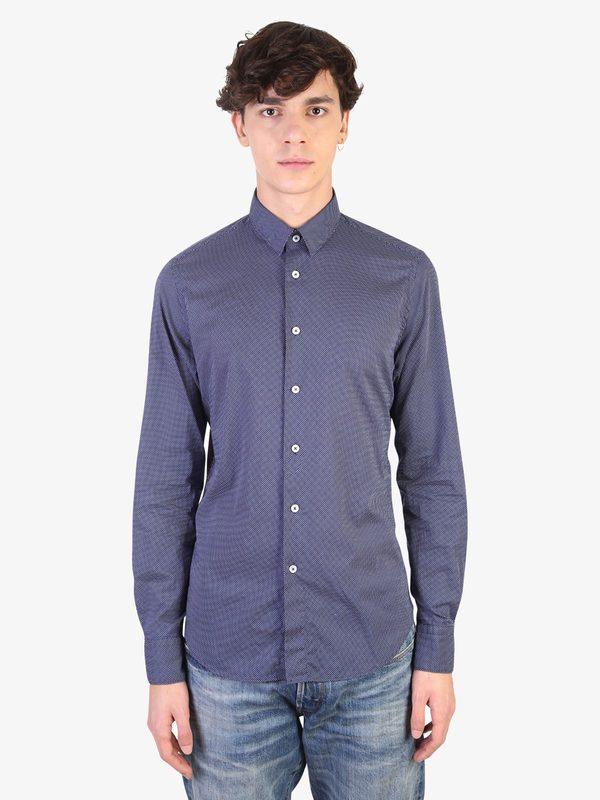 DELL'OGLIO - Micro patterned cotton shirt