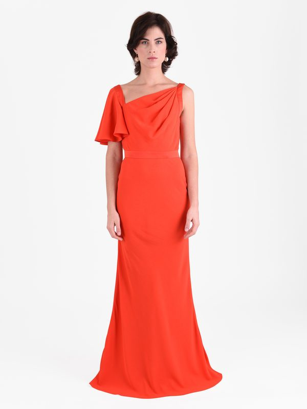 ALEXANDER MCQUEEN - Viscose blend long dress