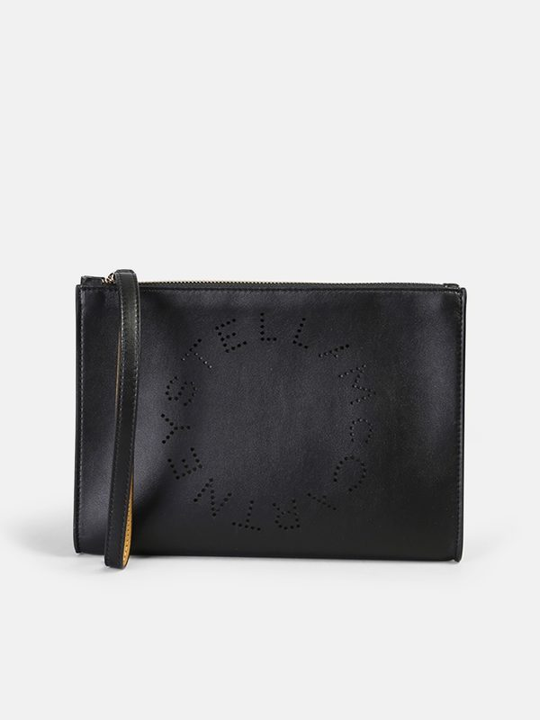 STELLA MCCARTNEY - Logo perforated clutch