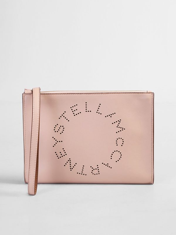 STELLA MCCARTNEY - Logo perforated clutch