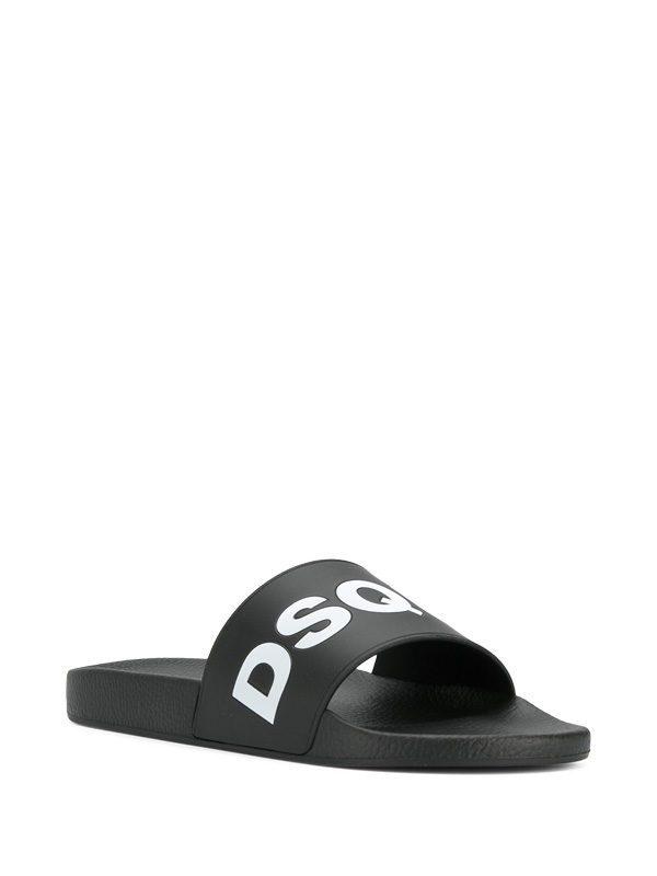 DSQUARED2 - Logo rubber slide sandals