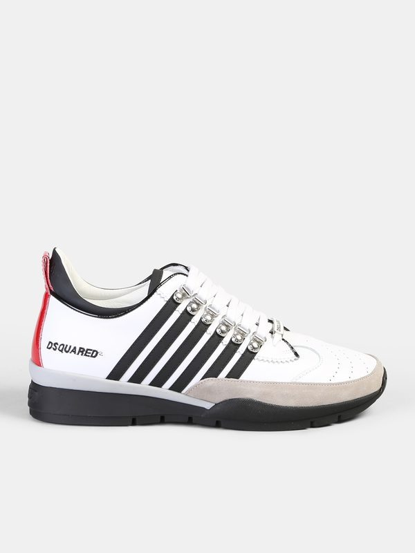Dsquared2 Calf Sneakers With Side Bands Jvhjw