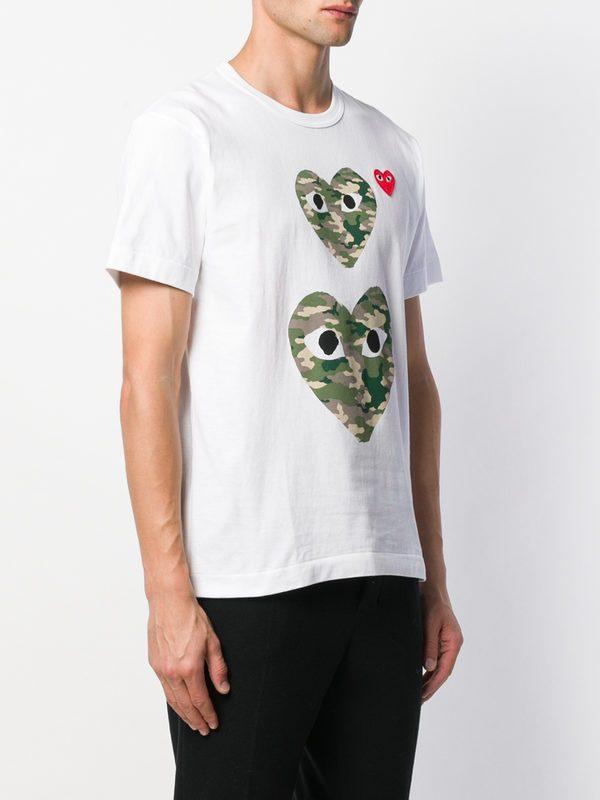 COMME DES GARCONS PLAY - Camouflage print cotton T-shirt