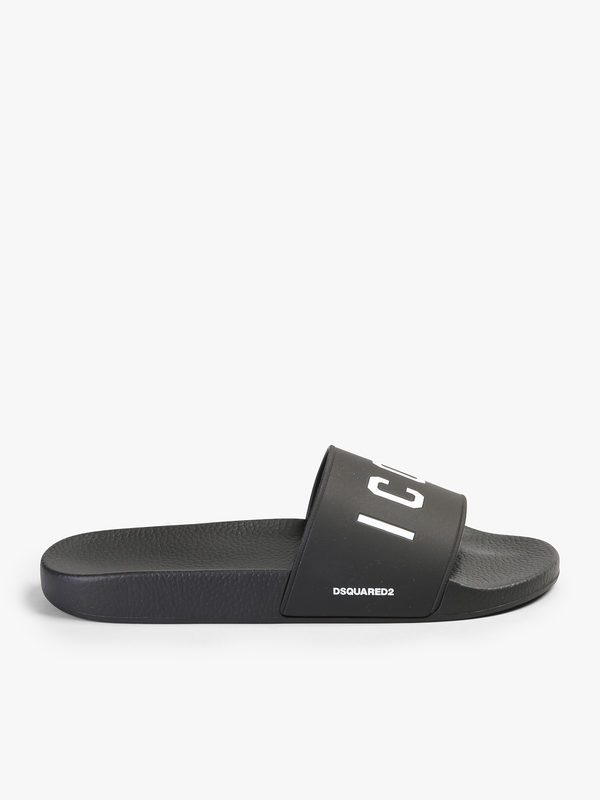 DSQUARED2 - Printed  rubber slide sandals
