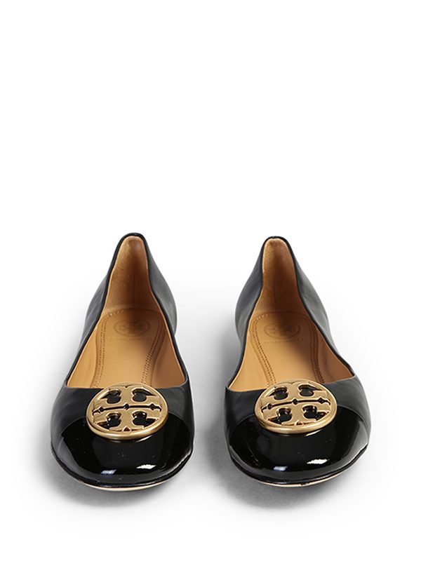 TORY BURCH - Chelsea leather ballerina flats